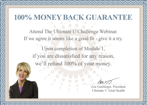 UU Challenge Money Back Guarantee 112411